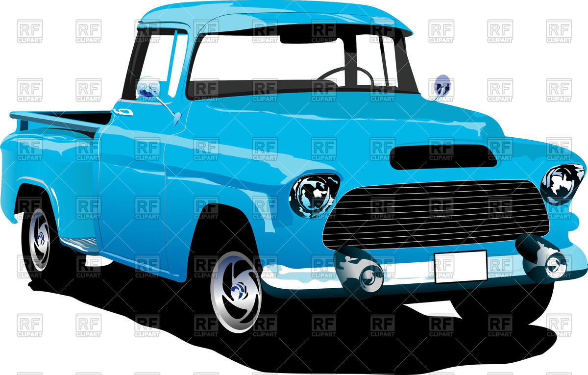 1200x765 Old American Blue Pick Up Truck Vector Image Vector Artwork Of