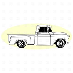 300x300 Retro Pick Up Truck Vector Clipart Lazttweet