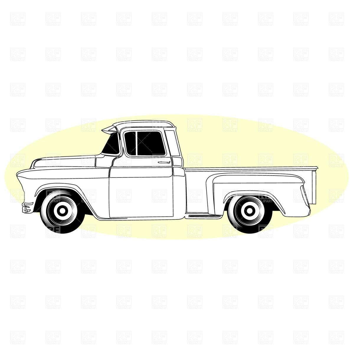 1200x1200 Retro Pick Up Truck Vector Image Vector Artwork Of
