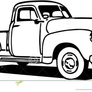 300x300 Set Of Old Retro Car Pickup Side View Vector Clipart Arenawp
