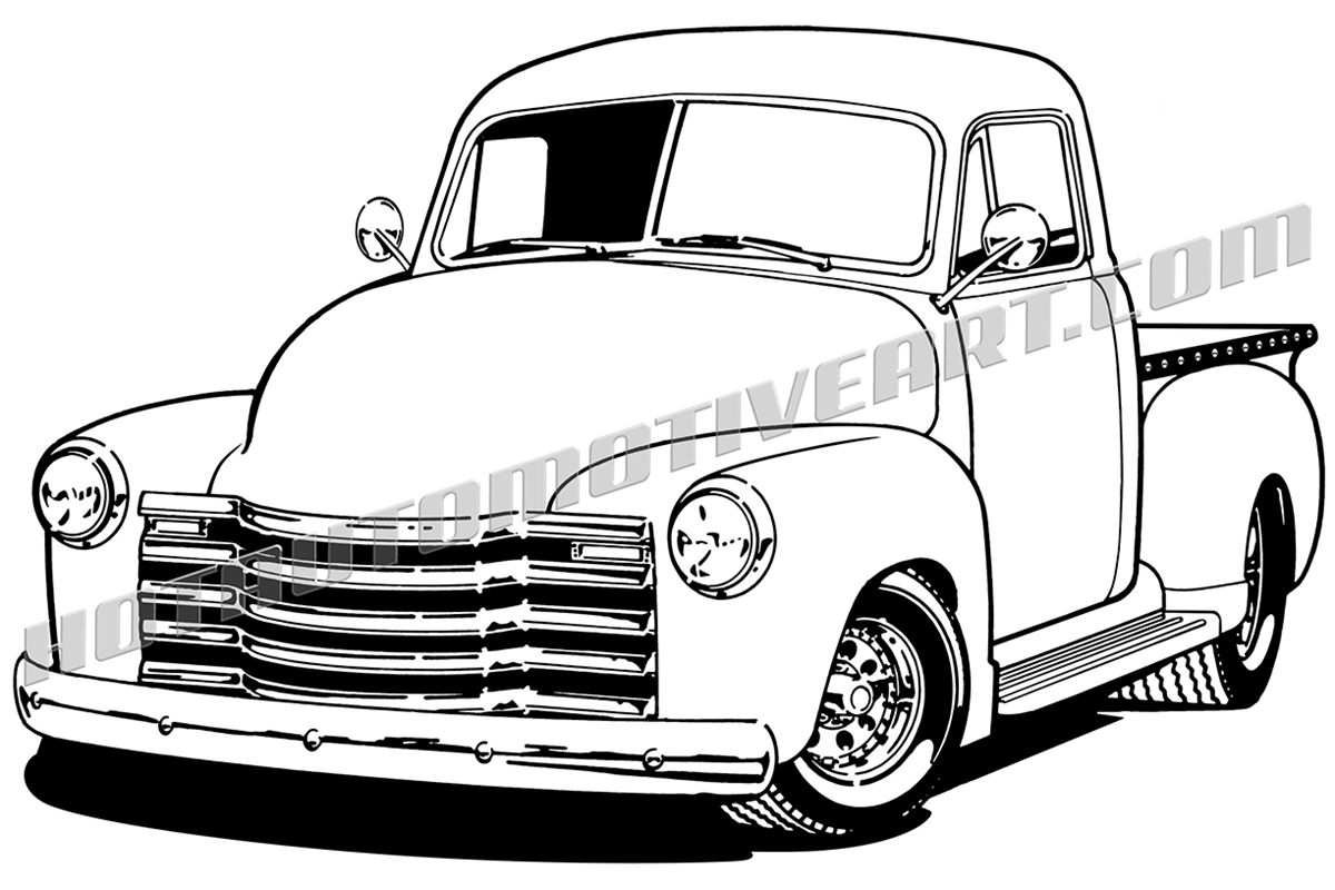 1200x800 1948 Chevy Pickup, Buy Two Images, Get A Third Image Free