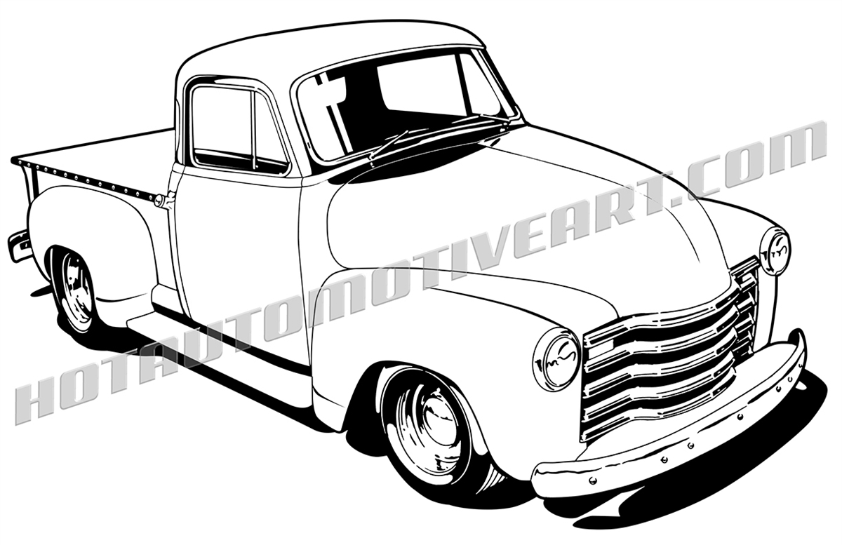 1200x777 1948 Chevy Pickup Truck, Buy Two Images, Get A Third Image Free