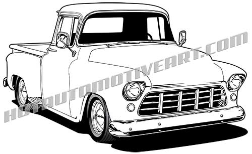 500x307 1955 Chevy Truck High Quality, Buy Two Images, Get A Third Image Free