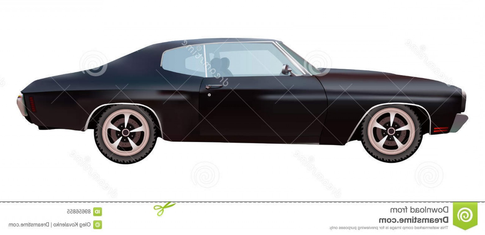 1560x758 Stock Illustration American Muscle Car Vector Chevrolet Chevelle
