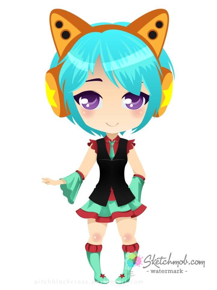 720x960 Custom Cute Vector Chibi Commission Sketchmob