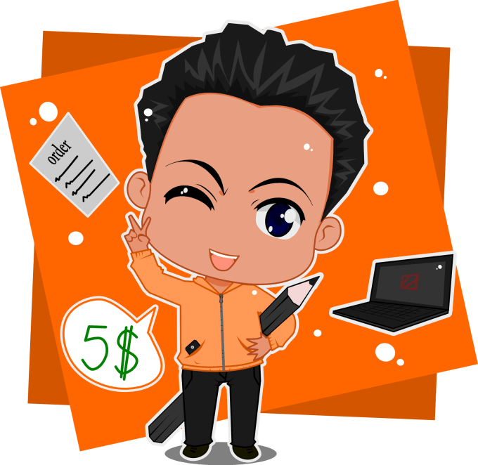 680x662 Make Best Cute Vector Chibi From Photo Of You By Greenwingstudio