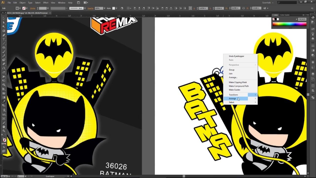 1280x720 Adobe Illustrator Cs6 Batman Chibi Vector Create