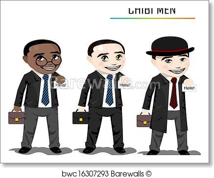 437x364 Art Print Of Chibi Businessman Vector Barewalls Posters Amp Prints