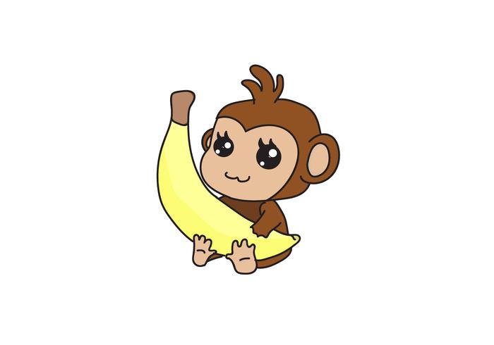 700x490 Chibi Monkey Vector Cartoon