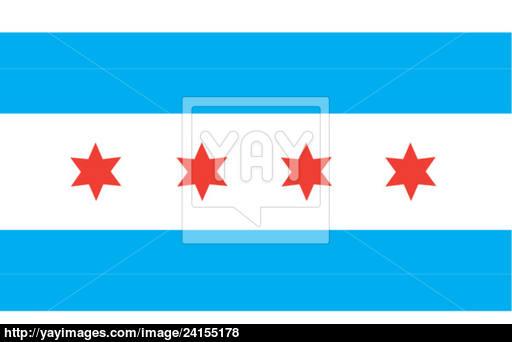512x342 Chicago City Flag Vector