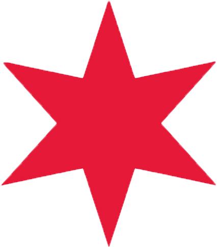 426x486 Chicago Flag Star Clipart