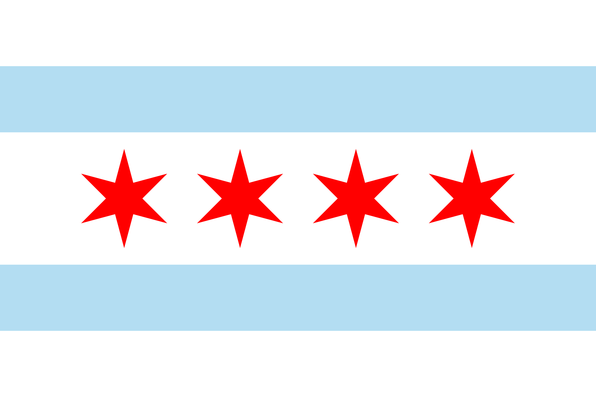 2000x1333 Fileflag Of Chicago, Illinois.svg