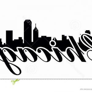 300x300 Photostock Vector Chicago City Skyline Panorama Color Outline