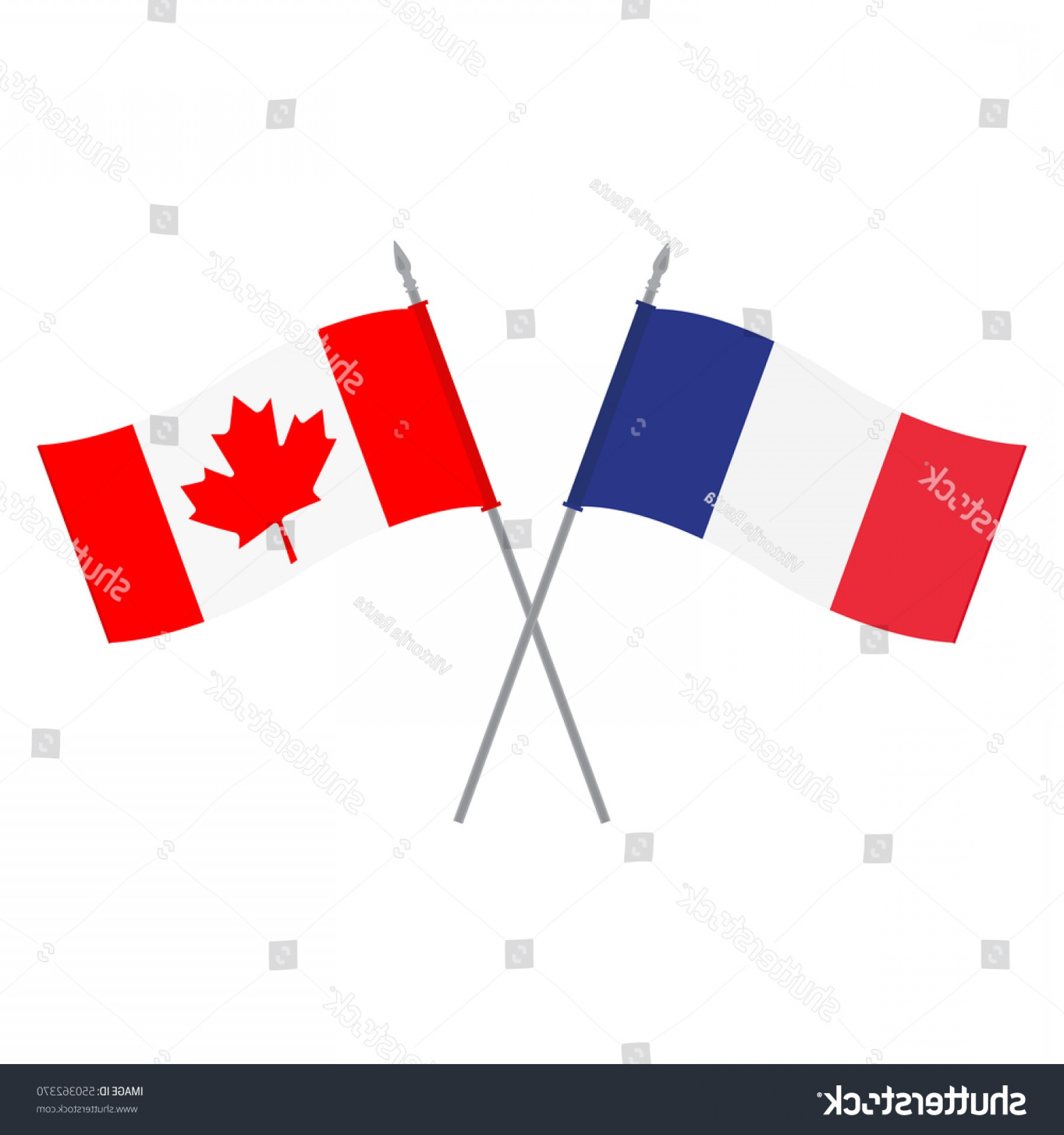 1800x1920 Vector Illustration Canadian French Flag Flags Lazttweet