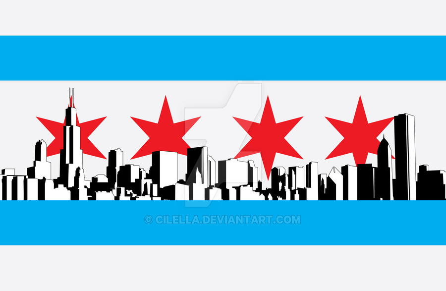 900x587 Chicago Flag By Cilella