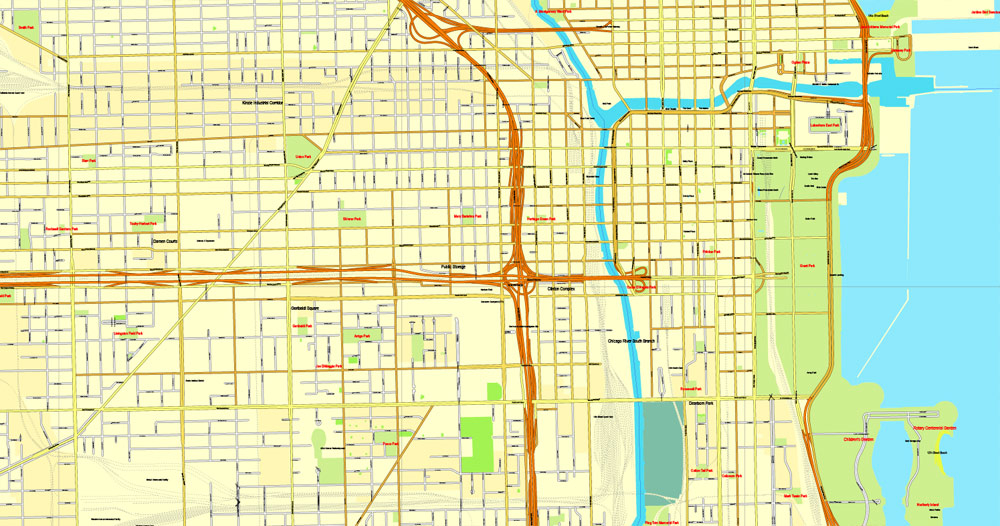 Chicago Map Vector at GetDrawings.com | Free for personal use ...