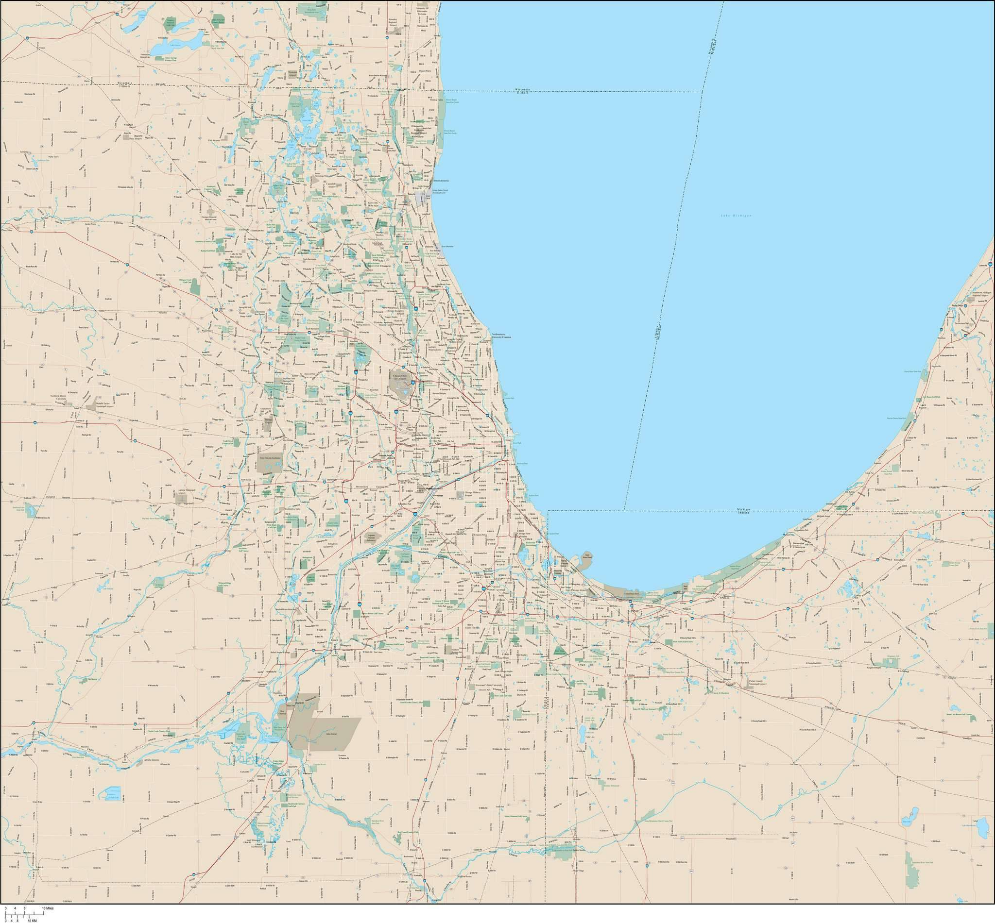 2048x1901 Chicago Vector Map Map Resources