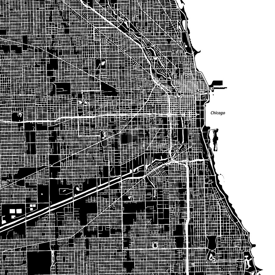 900x900 Download Chicago Vector Map Clipart Chicago Loop Chicago Metro Map