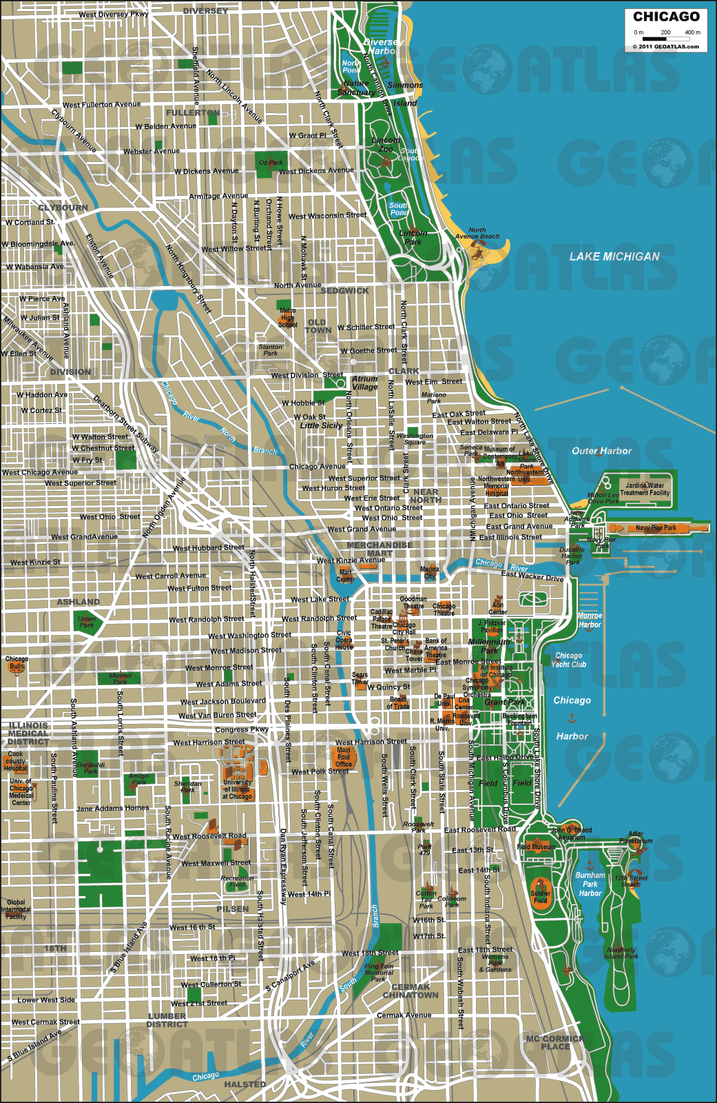 Chicago Map Vector at GetDrawings.com | Free for personal use ... on