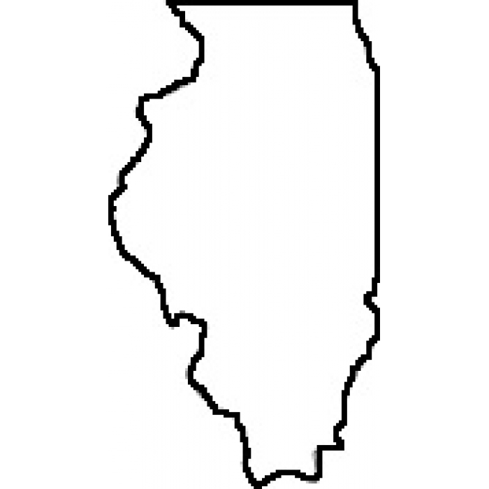 700x700 Map Clipart Illinois