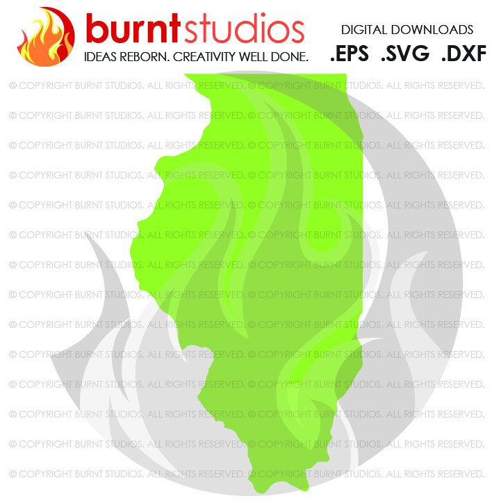 721x721 State Of Illinois Svg Cutting File, Digital Download, Love, Home