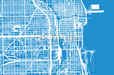 400x262 Vector City Map Of Chicago, Buy Photos Ap Images Detailview