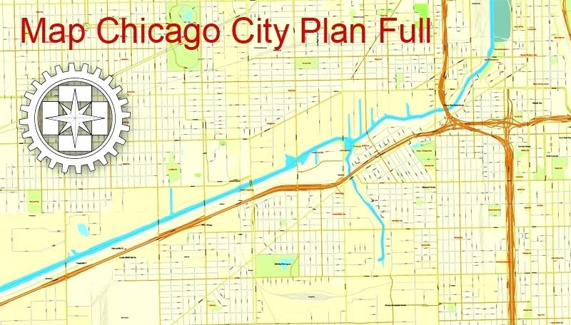 photo regarding Printable Map of Chicago referred to as Chicago Map Vector at  Free of charge for individual
