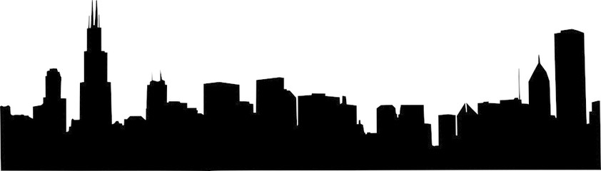 842x240 Chicago Skyline Vector Stock Image And Royalty Free Vector Files