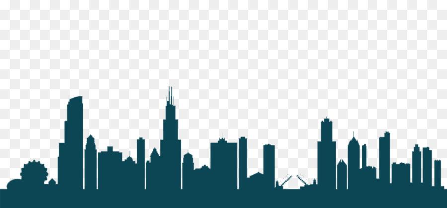 900x420 Chicago Skyline Vector Graphics Silhouette