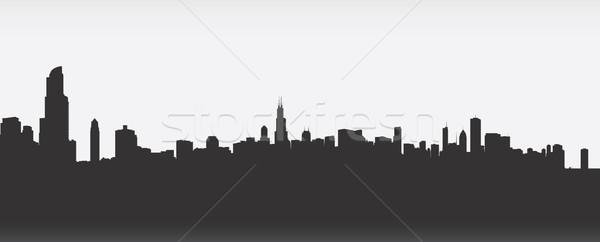 600x242 Chicago Skyline Vector Illustration Brett Lamb (Blamb) ( 6291515