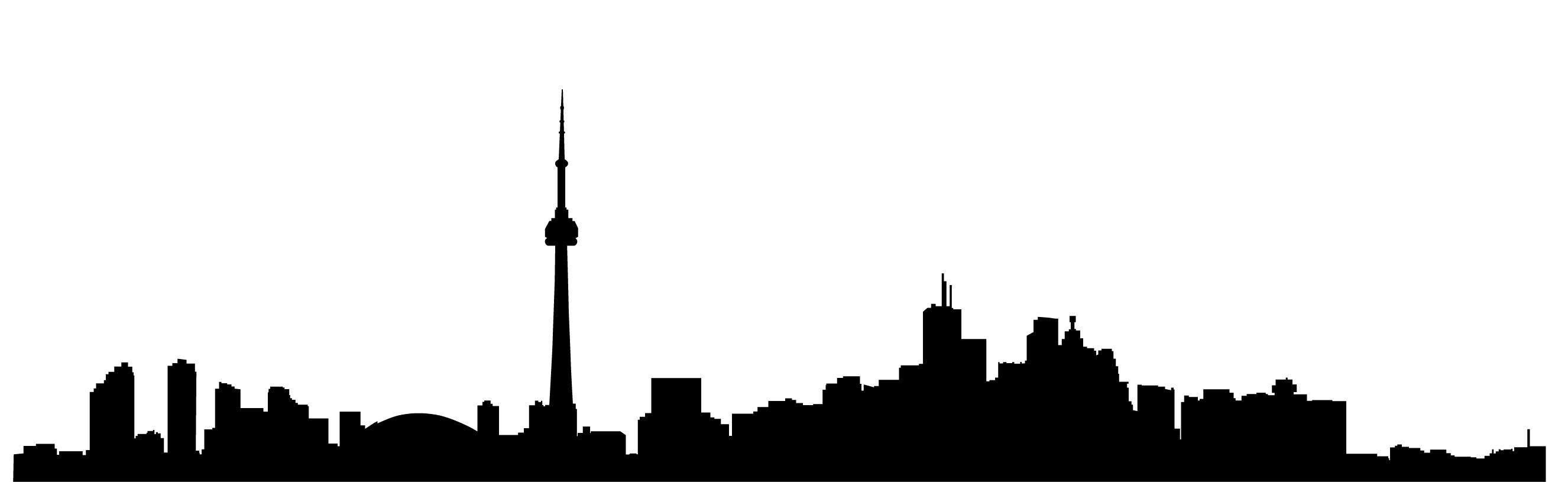 2652x815 60643708 Vector Black Silhouette Of Chicago Skyline Downtown With