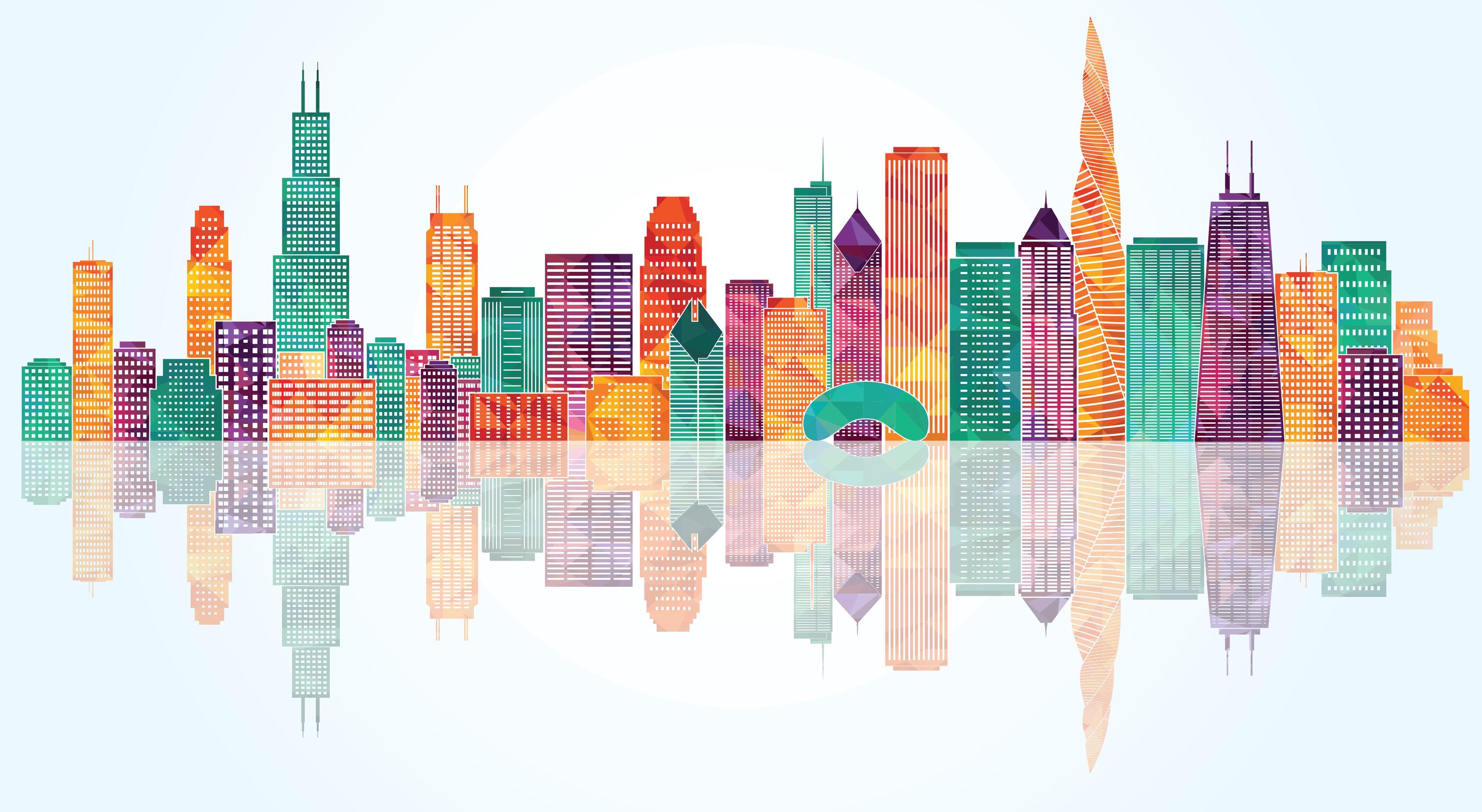 3585x1964 Chicago Skyline. Vector Illustration Fix Trading Community