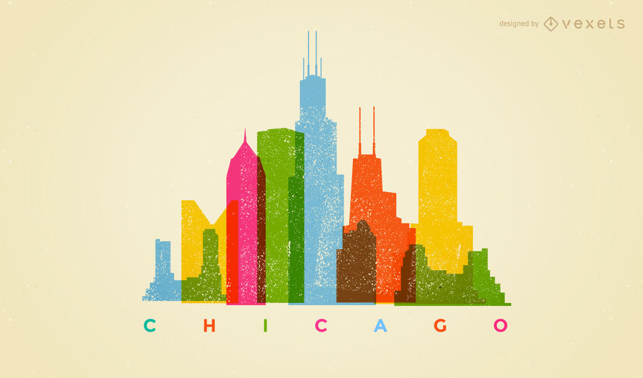 900x529 Colorful Chicago Skyline