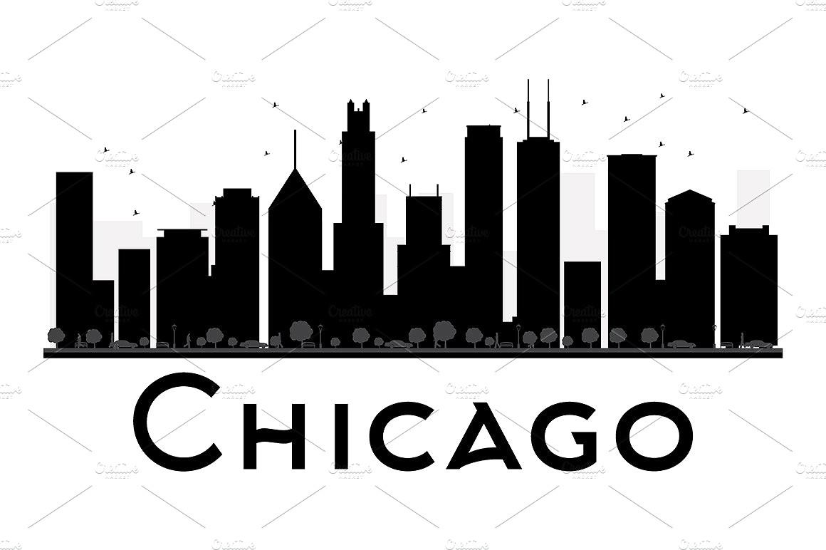 1160x772 83651184 Chicago Skyline Vector Art City Design 19 Silhouette