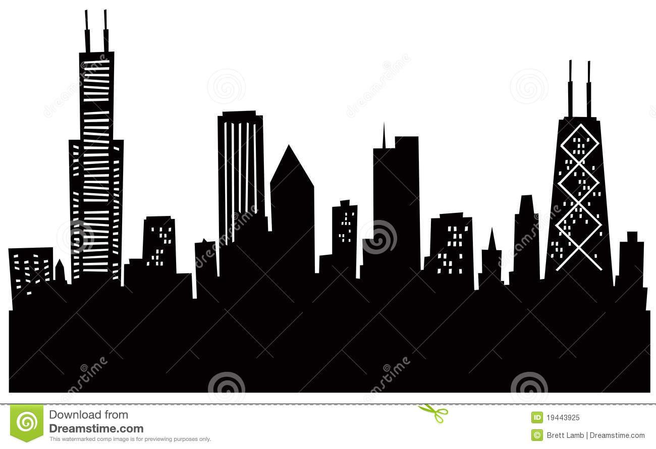 1300x890 Chicago Skyline Vector Clipart