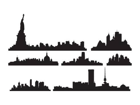 491x368 Chicago Skyline Free Vector Download (135 Free Vector) For
