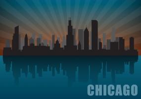 285x200 Chicago Skyline Free Vector Graphic Art Free Download (Found 913