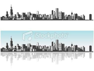 380x288 Chicago Skyline. Lovely Art Chicago Skyline