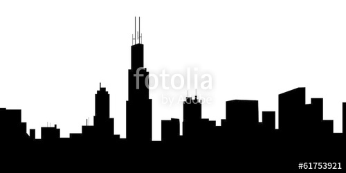 500x250 Chicago Skyline Vector Stock Image And Royalty Free Vector Files