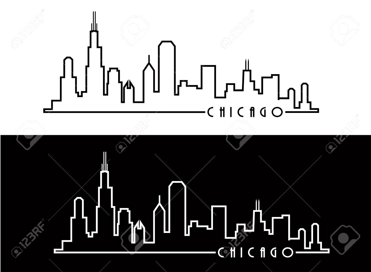 1300x954 Chicago Skyline Royalty Free Cliparts Vectors And Stock Cool
