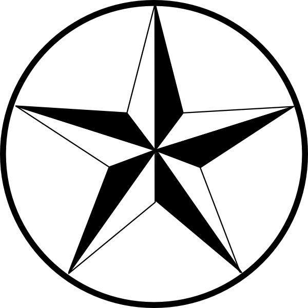 600x600 Circle With Star Image Transparent Library