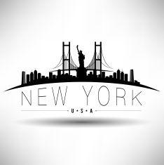 234x235 Chicago Skyline Silhouette Clip Art