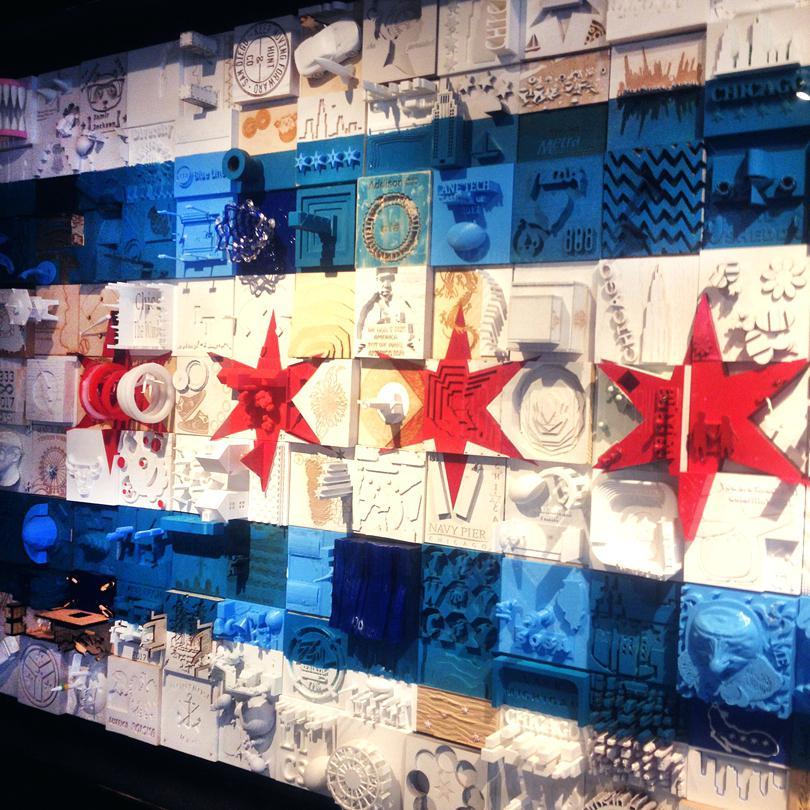 810x810 Chicago Flag Art Flag Dictionary Art Stars On Vintage Dictionary