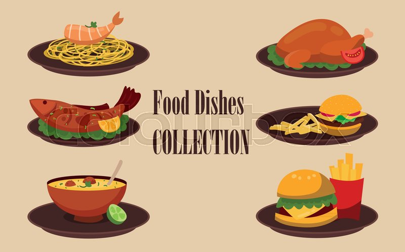 800x498 Collection Of Dishes, Soup, Salad, Pasta With Shrimps, Chicken