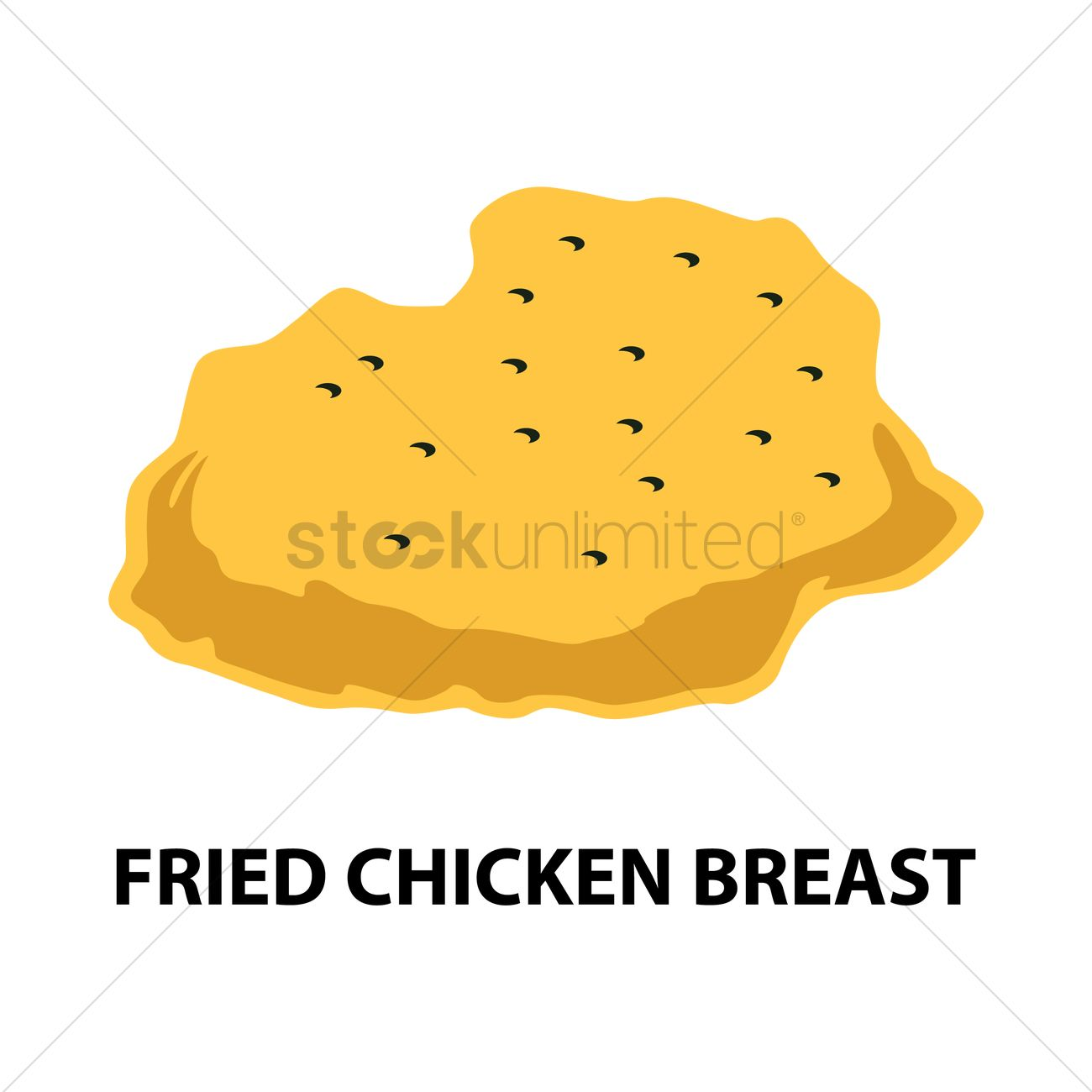 1300x1300 Fried Chicken Breast Vector Image