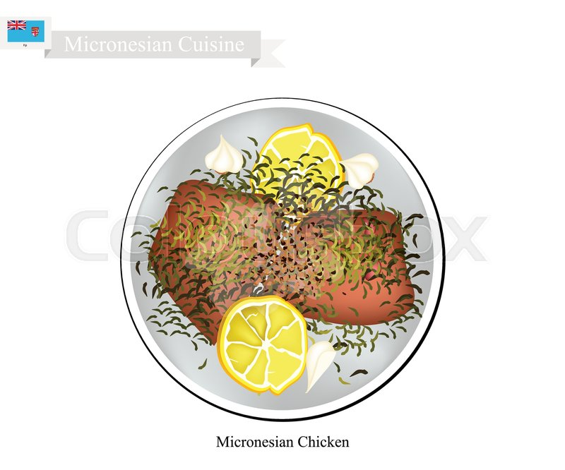 800x666 Micronesian Cuisine, Illustration Of Traditional Grilled Chicken