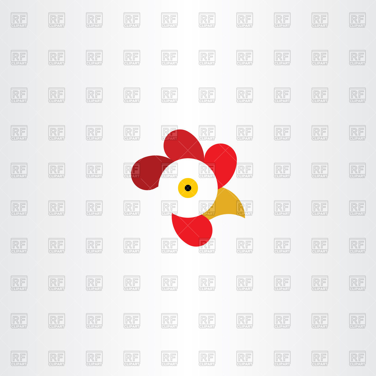 1200x1200 Chicken Or Rooster Head Icon Vector Image Vector Artwork Of