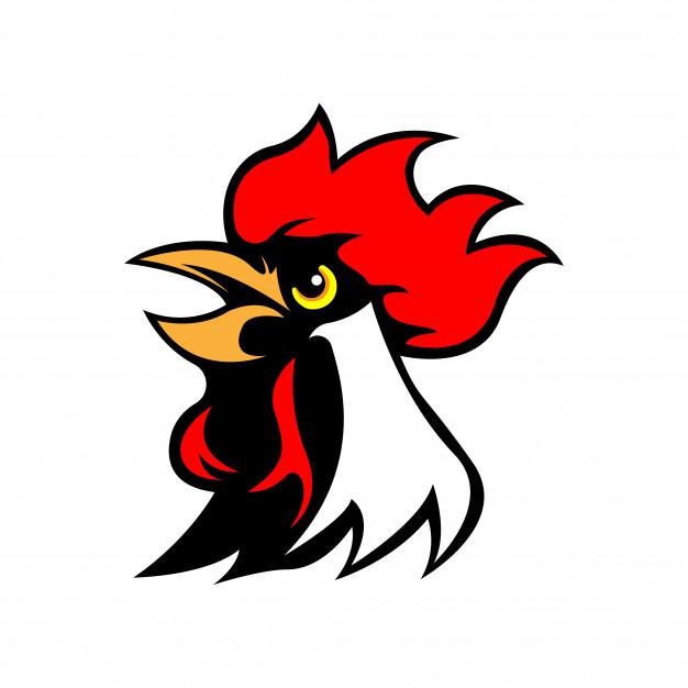 626x626 Chicken Rooster Head Mascot Vector Premium Download