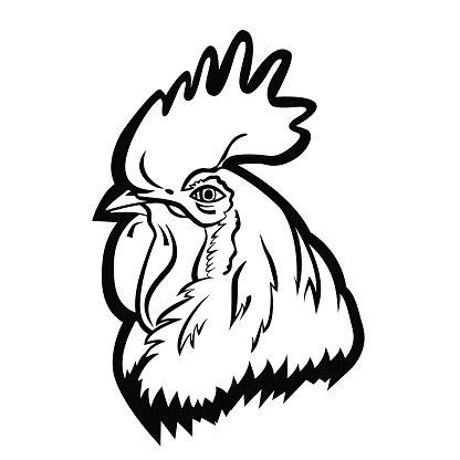 416x416 Rooster Logo Isolated Rooster Head Vector Premium Clipart