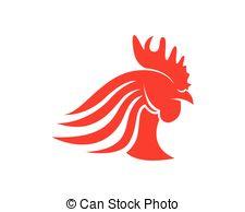 225x194 Vector Bright Chicken Head Logo Vector Clipart Royalty Free. 25